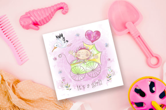 Baby Shower. Set for Girl. Graphic Illustrations By grigaola - Image 8