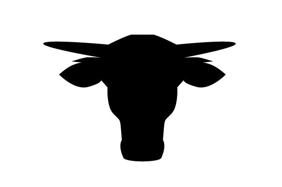 Download Free Baby Long Horn Bull Head Silhouette Svg Cut File By Creative for Cricut Explore, Silhouette and other cutting machines.