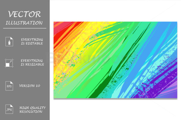 Background with Rainbow Paint Graphic Backgrounds By Blackmoon9