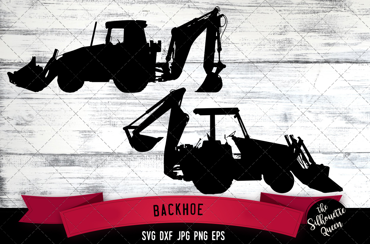 Download Free Backhoe Graphic By Thesilhouettequeenshop Creative Fabrica for Cricut Explore, Silhouette and other cutting machines.