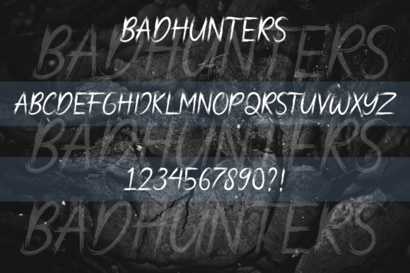 Print on Demand: Bad Hunters Display Font By AbasCreative - Image 3