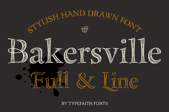 Print on Demand: Bakersville Serif Font By TypeFaithFonts