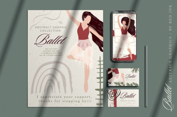 Ballet Abstract Graphic Bundle Graphic By Red Ink Image 2