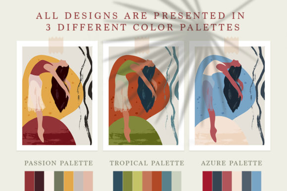 Ballet Abstract Graphic Bundle Graphic By Red Ink Image 4