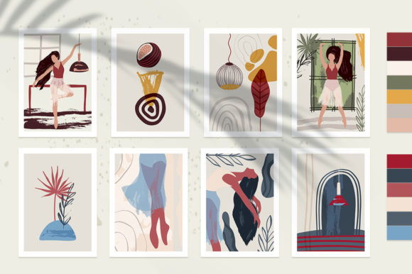 Ballet Abstract Graphic Bundle Graphic By Red Ink Image 5