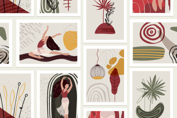 Ballet Abstract Graphic Bundle Graphic By Red Ink Image 6
