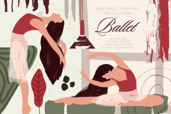 Ballet Abstract Graphic Bundle Graphic By Red Ink Image 1