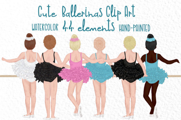 Ballet Dancers Clipart Graphic Illustrations By vivastarkids