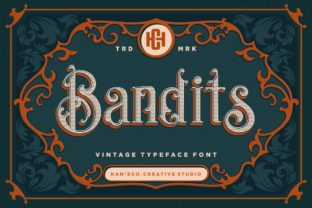 Print on Demand: Bandits Display Font By HansCo