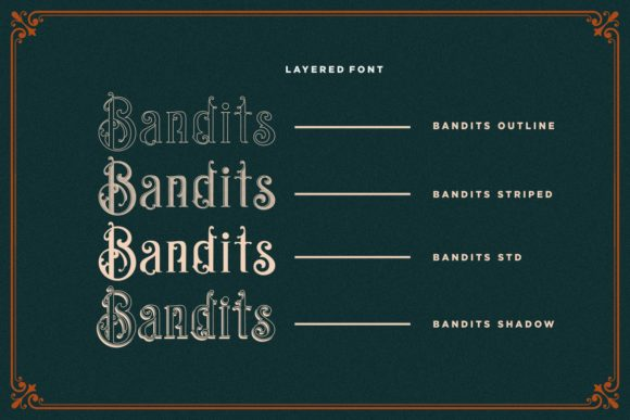 Print on Demand: Bandits Display Font By HansCo - Image 7