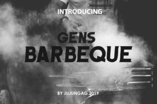 Barbeque Font By Gens Creatif Store