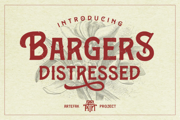 Print on Demand: Bargers Distressed Display Font By Arterfak Project