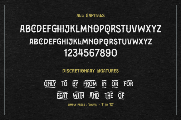 Print on Demand: Bargers Distressed Display Font By Arterfak Project - Image 7