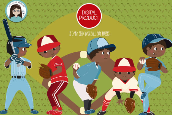 Download Free Basebal Softball Boys Cliparts Graphic By Cutelittleclipart for Cricut Explore, Silhouette and other cutting machines.