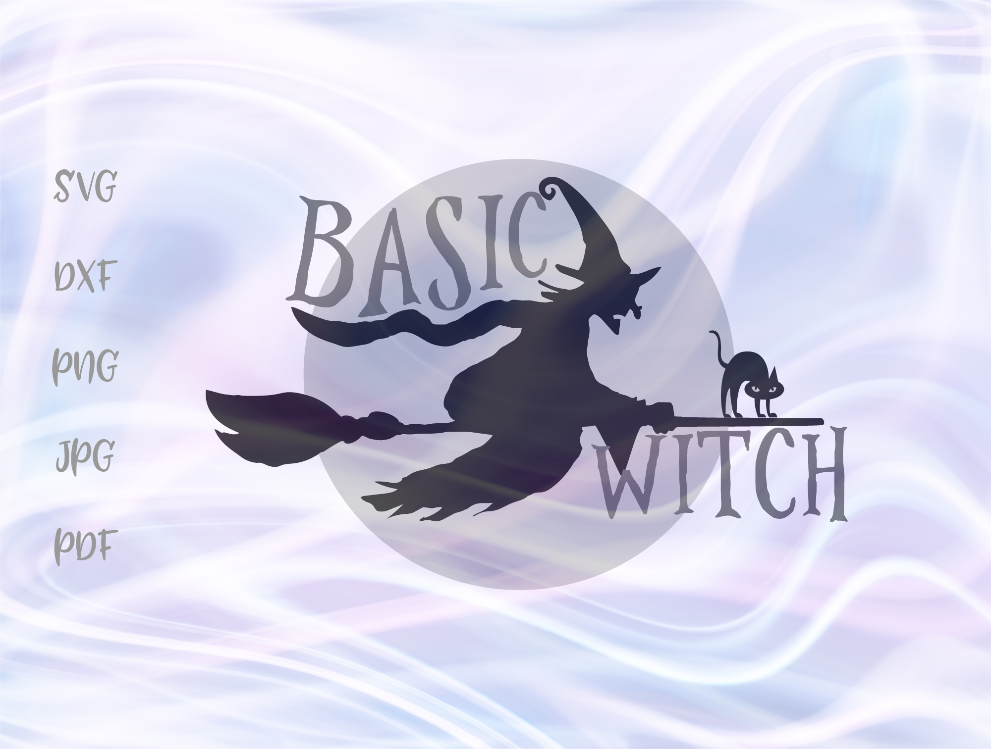 Basic Witch Happy Halloween Broom Moon Graphic By Digitals By