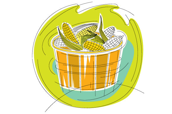 Download Free Basket Of Corn In Abstract Style Svg Cut File By Creative for Cricut Explore, Silhouette and other cutting machines.