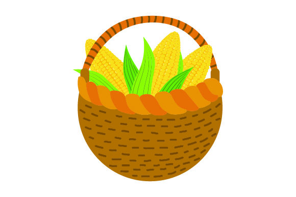 Download Free Basket Of Corn Stalks Thanksgiving Svg Cut File By Creative for Cricut Explore, Silhouette and other cutting machines.