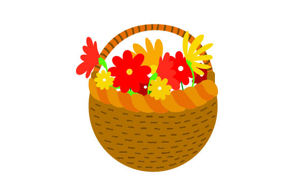 Download Free Basket Of Flowers Thanksgiving Svg Cut File By Creative for Cricut Explore, Silhouette and other cutting machines.