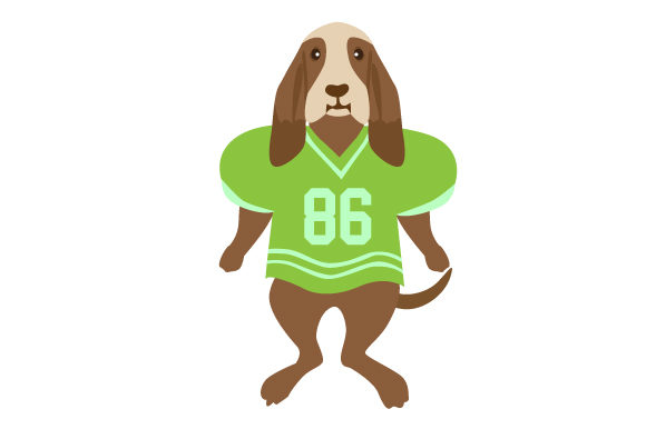 Basset Hound in Football Jersey Dogs Craft Cut File By Creative Fabrica Crafts - Image 1