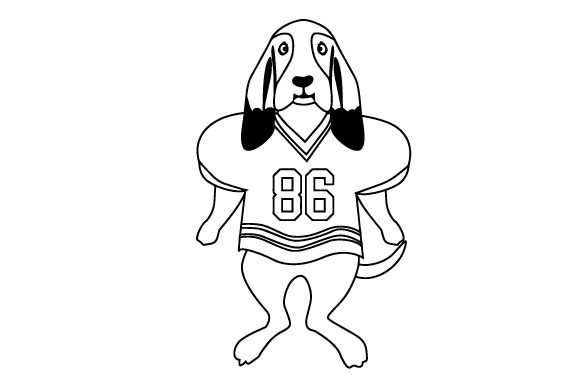 Download Free Basset Hound In Football Jersey Svg Cut File By Creative Fabrica for Cricut Explore, Silhouette and other cutting machines.