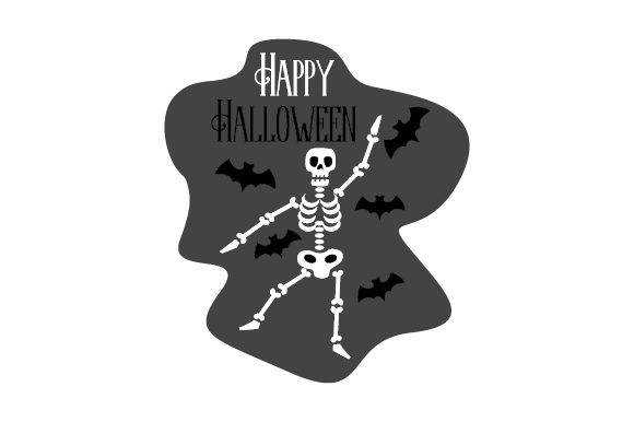 Bats and Skeleton Happy Halloween Halloween Craft Cut File By Creative Fabrica Crafts