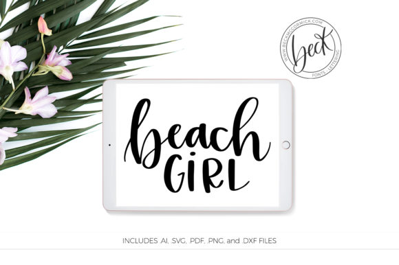 Download Free Beach Girl Graphic By Beckmccormick Creative Fabrica for Cricut Explore, Silhouette and other cutting machines.