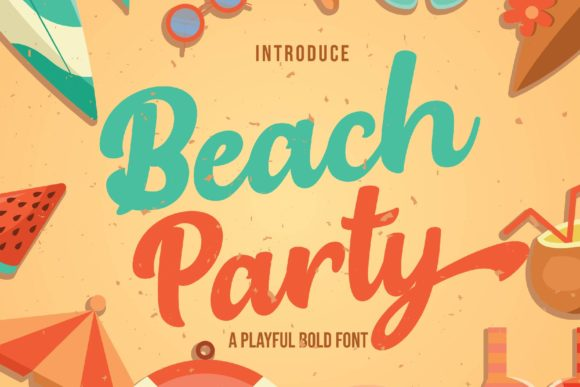 Print on Demand: Beach Party Script & Handwritten Font By Ian Mikraz - Image 1