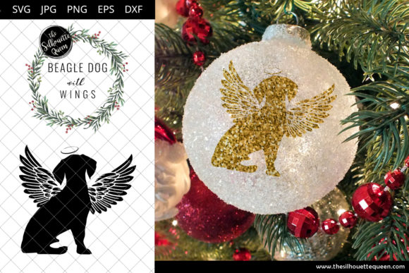 Beagle Dog #8 with Wings Graphic Crafts By thesilhouettequeenshop