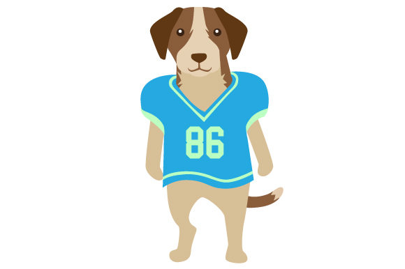 huge selection of 30134 5022a Beagle in Football Jersey