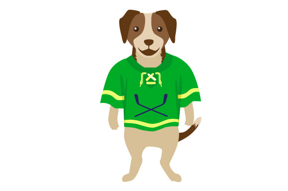 Beagle in Hockey Jersey Dogs Craft Cut File By Creative Fabrica Crafts - Image 1