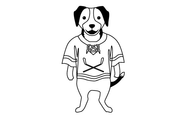 Beagle in Hockey Jersey Dogs Craft Cut File By Creative Fabrica Crafts - Image 2