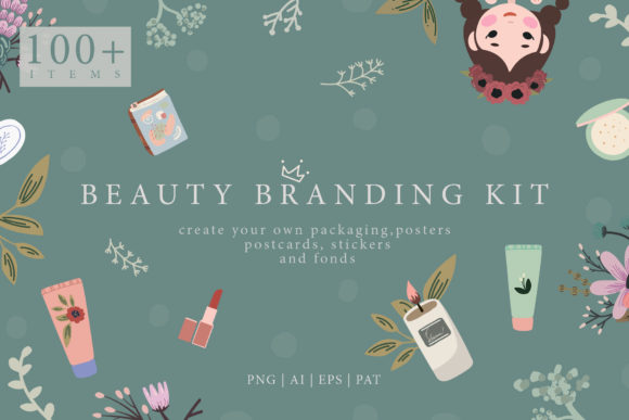Beauty Branding Kit Graphic Illustrations By NassyArt