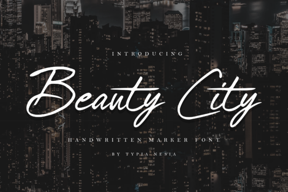 Print on Demand: Beauty City Script & Handwritten Font By Typia Nesia