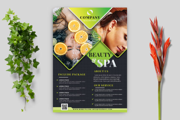 Beauty & Spa Flyer Graphic Print Templates By goku4501