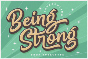 Print on Demand: Being Strong Display Font By Subectype