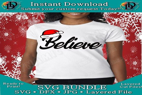 Download Free Believe Christmas Svg Graphic By Dynamicdimensions Creative for Cricut Explore, Silhouette and other cutting machines.