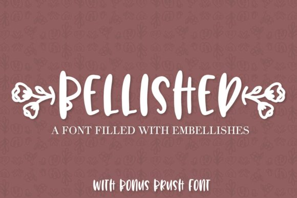 Print on Demand: Bellished Display Font By Justina Tracy - Image 1