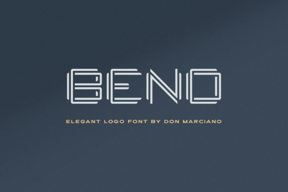 Bend Display Font By DonMarciano