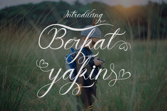 Print on Demand: Berkat Yakin Script & Handwritten Font By maydhen studio