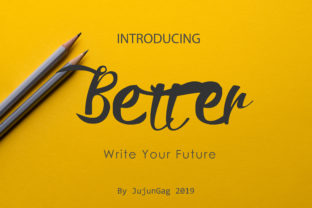 Print on Demand: Better Script & Handwritten Font By Nerdstudio