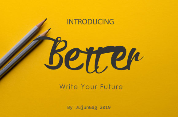 Print on Demand: Better Script & Handwritten Font By Gens Creatif Store