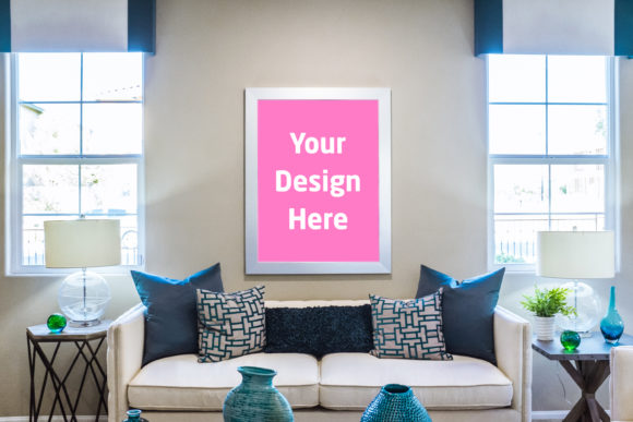 Print on Demand: Big Frame with Sofa Graphic Product Mockups By Outflow Designs