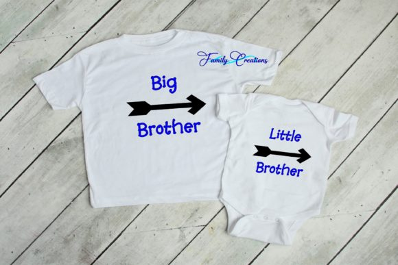 Download Free Big Little Brother Sister Graphic By Family Creations for Cricut Explore, Silhouette and other cutting machines.