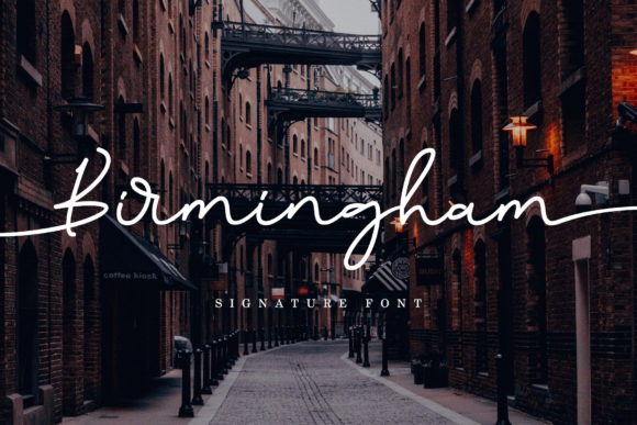 Print on Demand: Birmingham Script & Handwritten Font By aldedesign