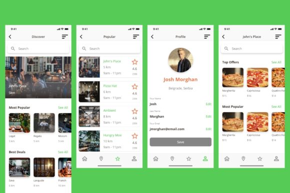 BiteIt Mobile UI Kit Graphic UX and UI Kits By Web Donut - Image 4