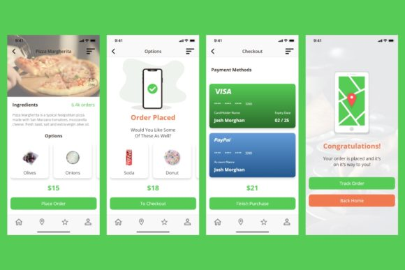 BiteIt Mobile UI Kit Graphic UX and UI Kits By Web Donut - Image 5