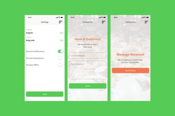 BiteIt Mobile UI Kit Graphic UX and UI Kits By Web Donut - Image 7