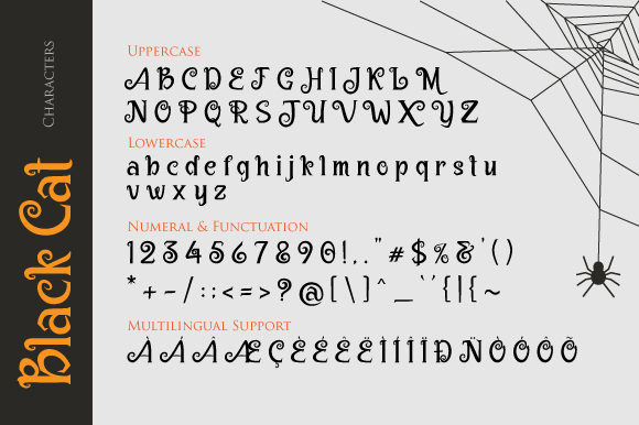 Print on Demand: Black Cat Display Font By VNM Creative Studio - Image 5