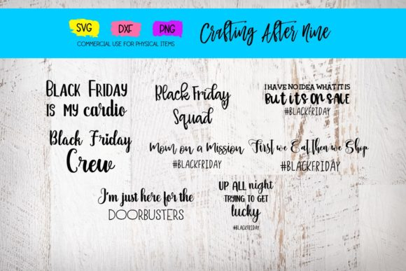 Print on Demand: Black Friday Bundle Graphic Crafts By Crafting After Nine