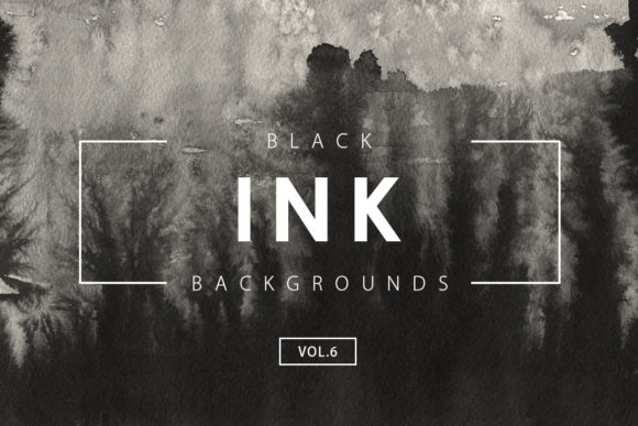 Print on Demand: Black Ink Backgrounds 6 Graphic Backgrounds By ArtistMef